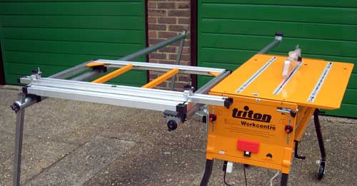 If Used For Cross Cutting The Operator Can Push Workpiece Through And Walk Behind Sliding Table Between Extension Rails In Complete Safety